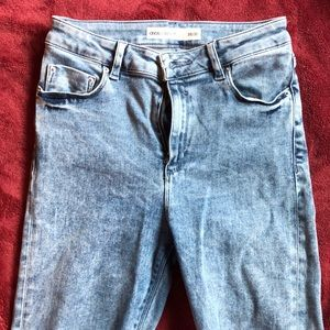 Asos cropped ankle jeans distressed denim sz 28